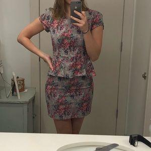 Ezra mini peplum dress
